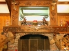 "Hand Carved ""Mountain Scene"" Mantel"