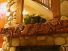 Hand Carve Oak Leaf Fireplace Mantel
